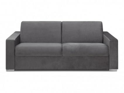 Schlafsofa 4-Sitzer Samt CALITO - Anthrazit - Liegefläche: 160 cm - Matratzenhöhe: 18cm