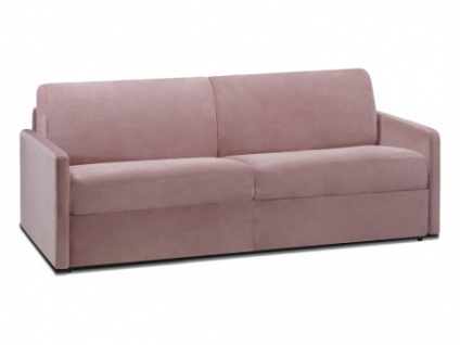 Schlafsofa 4-Sitzer Samt CALIFE - Rosa - Liegefläche: 160 cm - Matratzenhöhe: 14cm