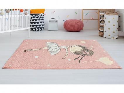 Kinderteppich BALLERINA - Polypropylen - 100 x 150 cm - Rosa & Beige
