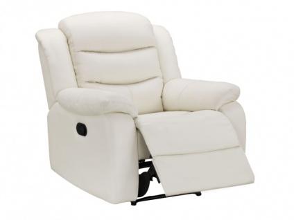 Relaxsessel Fernsehsessel Leder Pliton - Elfenbein - Vorschau 2