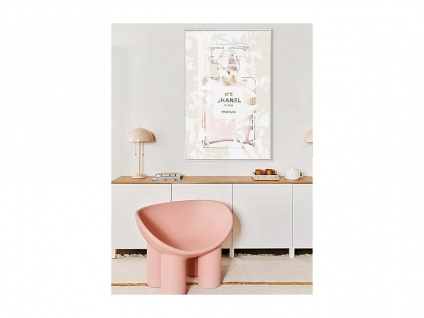 Kunstdruck gerahmt SMOOTH - 60 x 90 x 2, 5 cm - Rosa & Beige