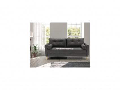 3-Sitzer-Sofa FLEN - Stoff - Dunkelgrau