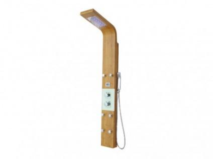 Massage Duschpaneel Duschsäule Holz LED Emira