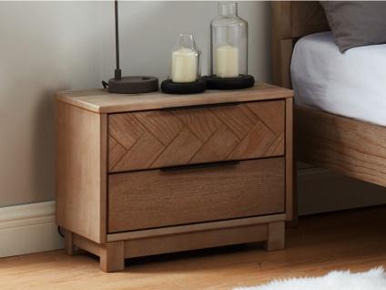 Nachttisch Holz MERIBEL - 2 Schubladen - Vorschau 2