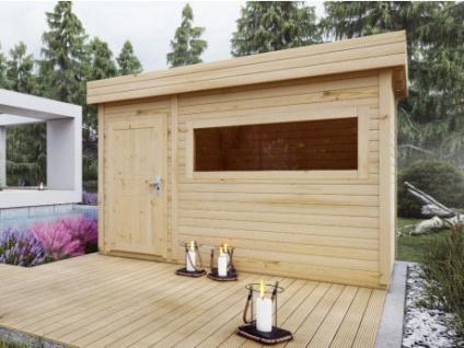 Gartensauna HERVOR - 2 Räume - 4/6 Personen - B366 x T204 x H210 cm