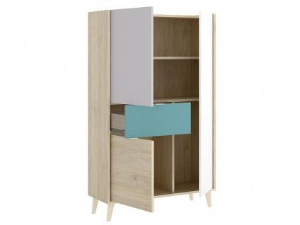 Vitrinenschrank BICA - 3 Türen & 1 Schublade - Mehrfarbig - Vorschau 3