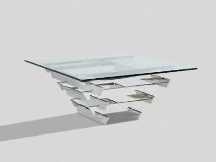 Couchtisch Design Glas & Metall CASTELLANA