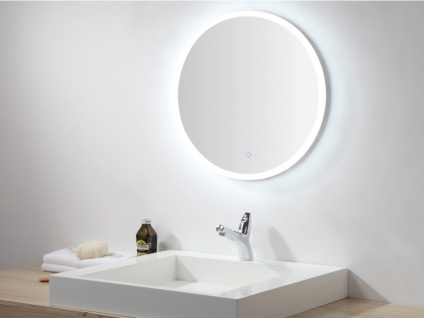 Spiegel mit LED-Beleuchtung DANIELA - Durchmesser: 60cm