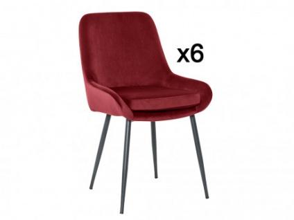 Stuhl 6er-Set BELIZE - Rot