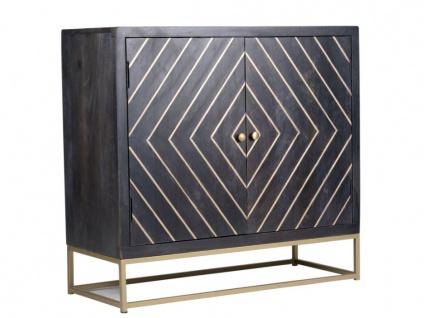 Sideboard Art Déco Holz & Metall PRISMIN - 2 Türen