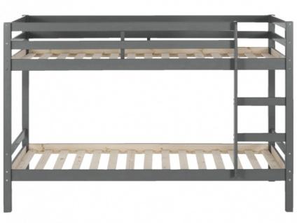 Etagenbett Grau : Hochbett cm weiß grau schreibtisch kleiderstange regale