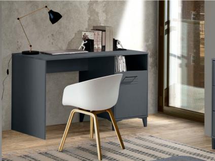 Schreibtisch SEATTLE - 1 Tür & 1 Ablagefach - Anthrazit