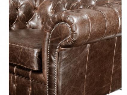 Chesterfield Ledersofa 2-Sitzer CLOTAIRE - Vintage Leder - Braun - Vorschau 5