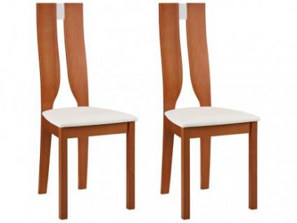 Stuhl 2er-Set Holz massiv Silvia