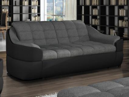 Sofa 2-Sitzer Stoff Farez - Schwarz&Grau