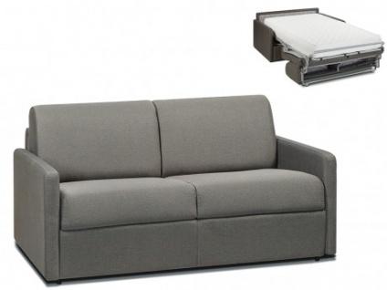 Schlafsofa 2-Sitzer Stoff CALIFE - Hellgrau - Liegefläche: 120 cm - Matratzenhöhe: 22cm