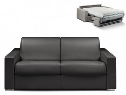Schlafsofa 3-Sitzer CALITO - Schwarz - Liegefläche: 140 cm - Matratzenhöhe: 22cm