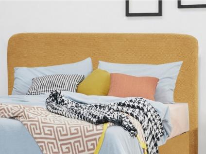 Kopfteil Bett LIVIA - Stoff - 160 cm - Gelb