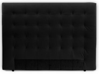 Kopfteil Bett gepolstert Lola - Breite: 162 cm - Schwarz