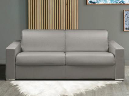 Schlafsofa 4-Sitzer CALITO - Grau - Liegefläche: 160 cm - Matratzenhöhe: 18cm
