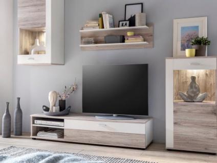 TV-Möbel TV-Wand mit Stauraum & LED-Beleuchtung TYLER