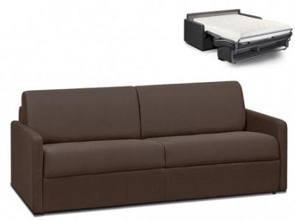 Schlafsofa 4-Sitzer Stoff CALIFE - Braun - Liegefläche: 160 cm - Matratzenhöhe: 18cm