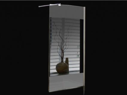 Duschtrennwand Seitenwand Spiegel für bodengleiche italienische Dusche Carla - 90x200 cm - Vorschau 5