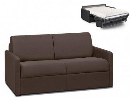 Schlafsofa 2-Sitzer Stoff CALIFE - Braun - Liegefläche: 120 cm - Matratzenhöhe: 18cm