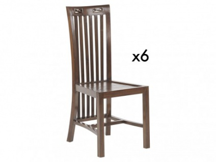 Stuhl 6er-Set Holz massiv Jakarta II
