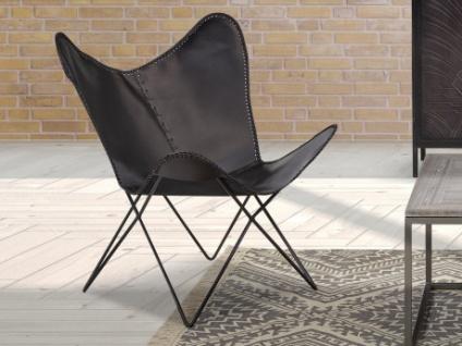 butterfly sessel leder mokoroa schwarz kaufen bei kauf. Black Bedroom Furniture Sets. Home Design Ideas