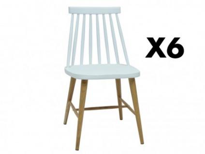 Stuhl 6er-Set Polypropylen DAGMAR - Weiß