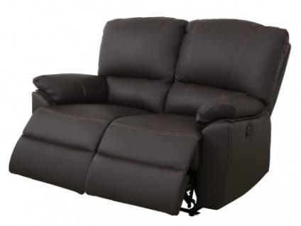Relaxsofa 2-Sitzer Leder elektrisch Marcis - Braun