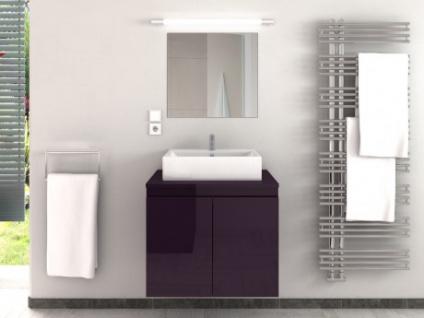 Komplettbad mit Einzelwaschbecken LAVITA II - Pflaume