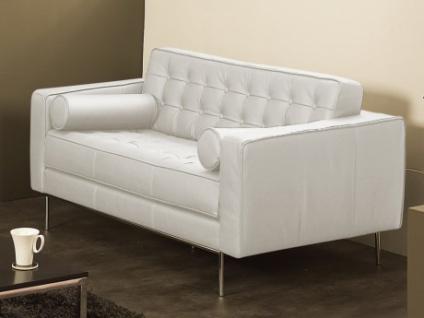 Ledersofa 2-Sitzer Vittoria - Luxusleder - Weiß