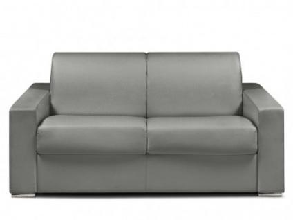 Schlafsofa 2-Sitzer CALITO - Grau - Liegefläche: 120 cm - Matratzenhöhe: 22cm