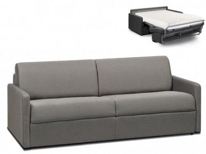 Schlafsofa 4-Sitzer Stoff CALIFE - Hellgrau - Liegefläche: 160 cm - Matratzenhöhe: 18cm