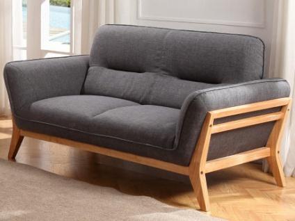 2-Sitzer-Sofa Stoff BENDIGO - Grau