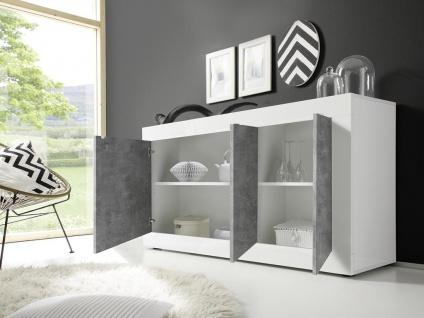 Sideboard COMETE - Weiß lackiert & Betonfarben - Vorschau 2