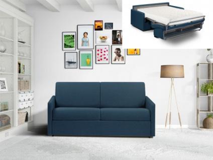 Schlafsofa 3-Sitzer Stoff CALIFE - Marineblau - Liegefläche: 140 cm - Matratzenhöhe: 18cm