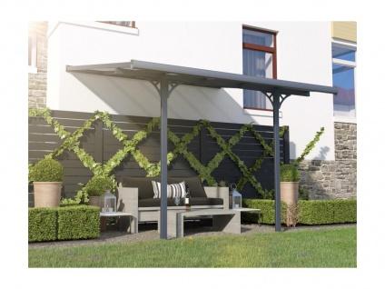 Terrassendach anlehnend ALVARO - Aluminium - 9, 5 m² - Vorschau 2