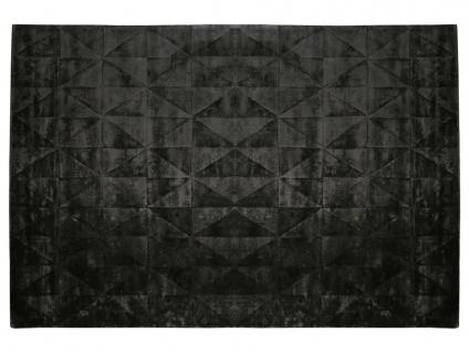 Teppich ANVERS - 100% Viskose - 160x230 cm - Schwarz