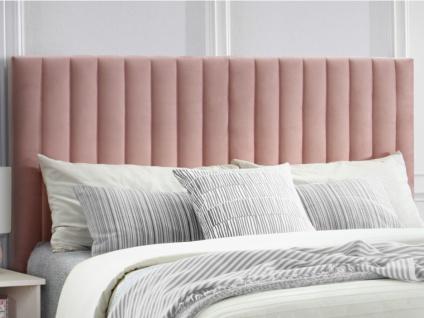 Kopfteil Bett Samt AGENORE - 160 cm - Rosa