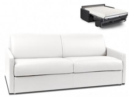 Schlafsofa 4-Sitzer CALIFE - Weiß - Liegefläche: 160 cm - Matratzenhöhe: 18cm