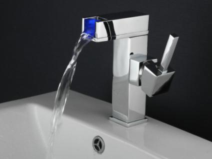 LED Wasserhahn Einhebelmischer Armatur Trevi mit Farbwechsel