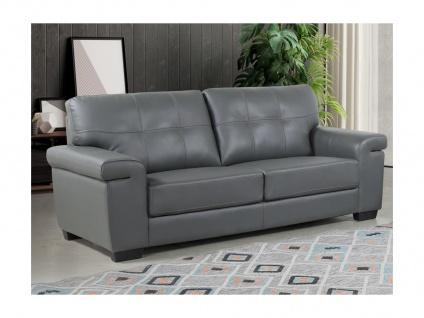 Ledersofa 3-Sitzer HAZEL - Grau