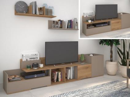 TV-Möbel ausziehbar DARBY - 3 Türen