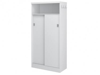 Regal Danilo Ii - 2 Türen & 1 Fach - Weiß - Vorschau 5