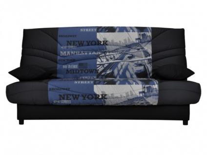 Schlafsofa Klappsofa mit Bettkasten Saloon - Motiv Manhattan
