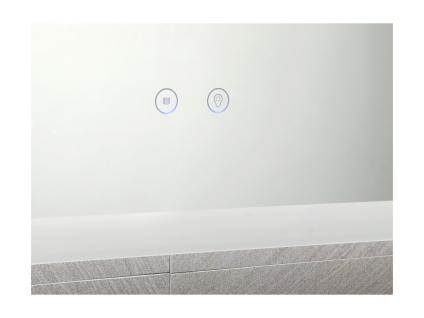 Spiegel mit LED-Beleuchtung ORBITEA - B70 x H50 cm - Vorschau 4