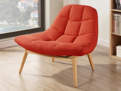 Lounge Sessel Stoff Kribi Orange Kaufen Bei Kauf Unique De